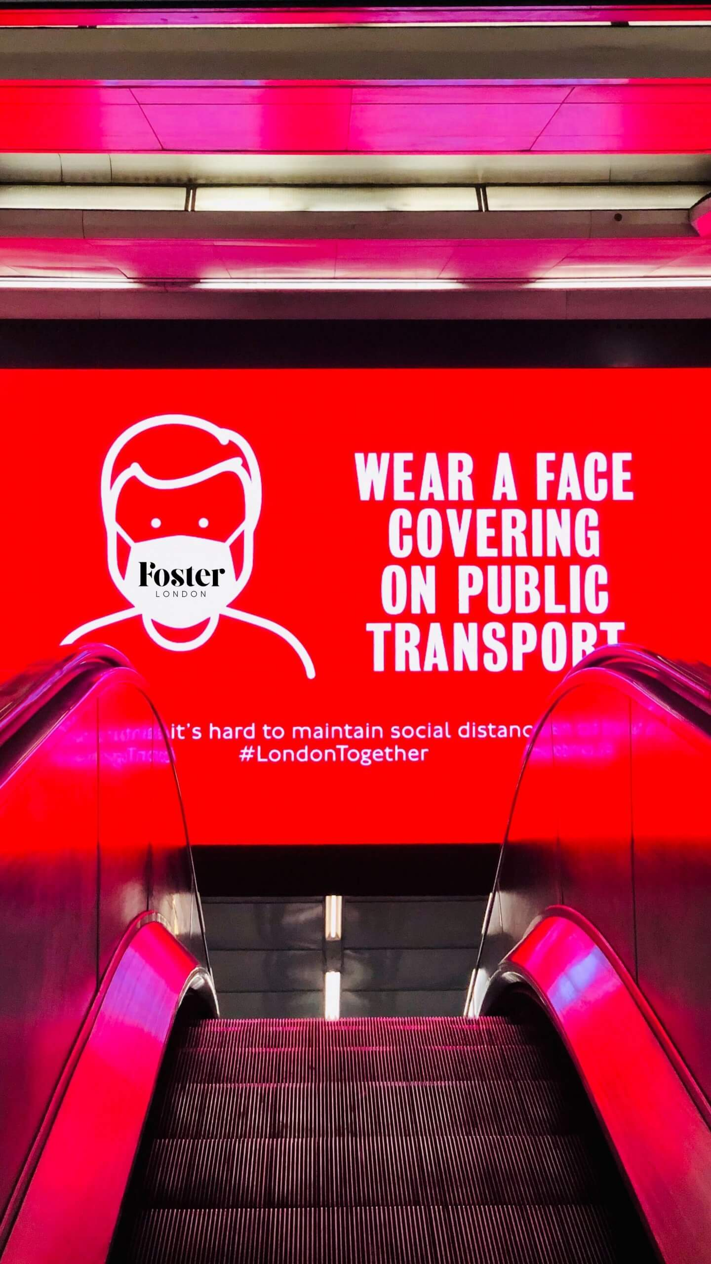 Foster London Face Mask Poster