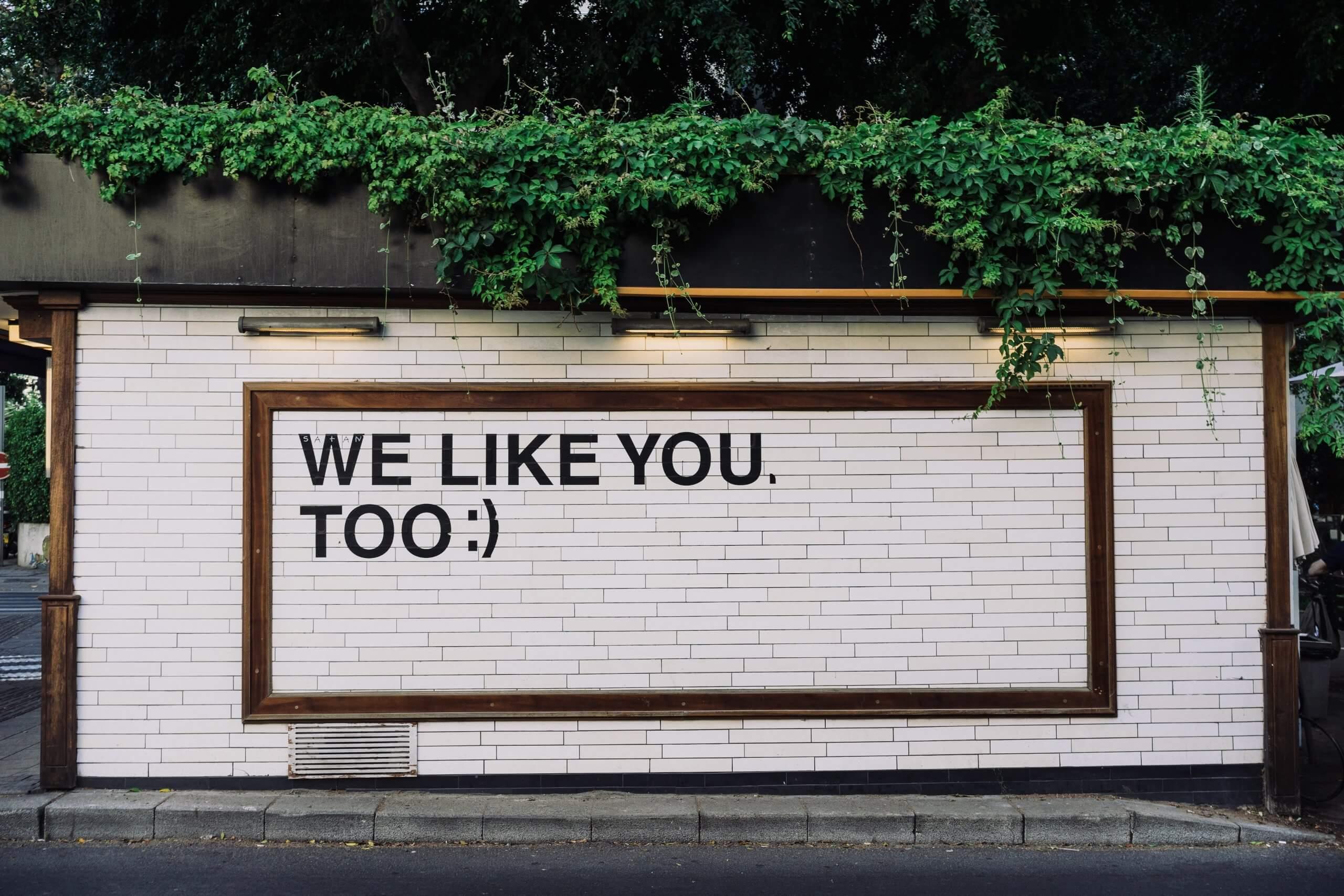 We Like You Too Poster