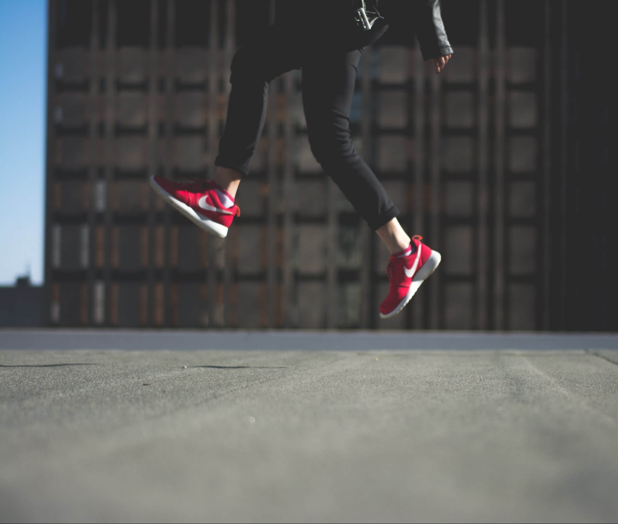 Jumping with Nike Shoes