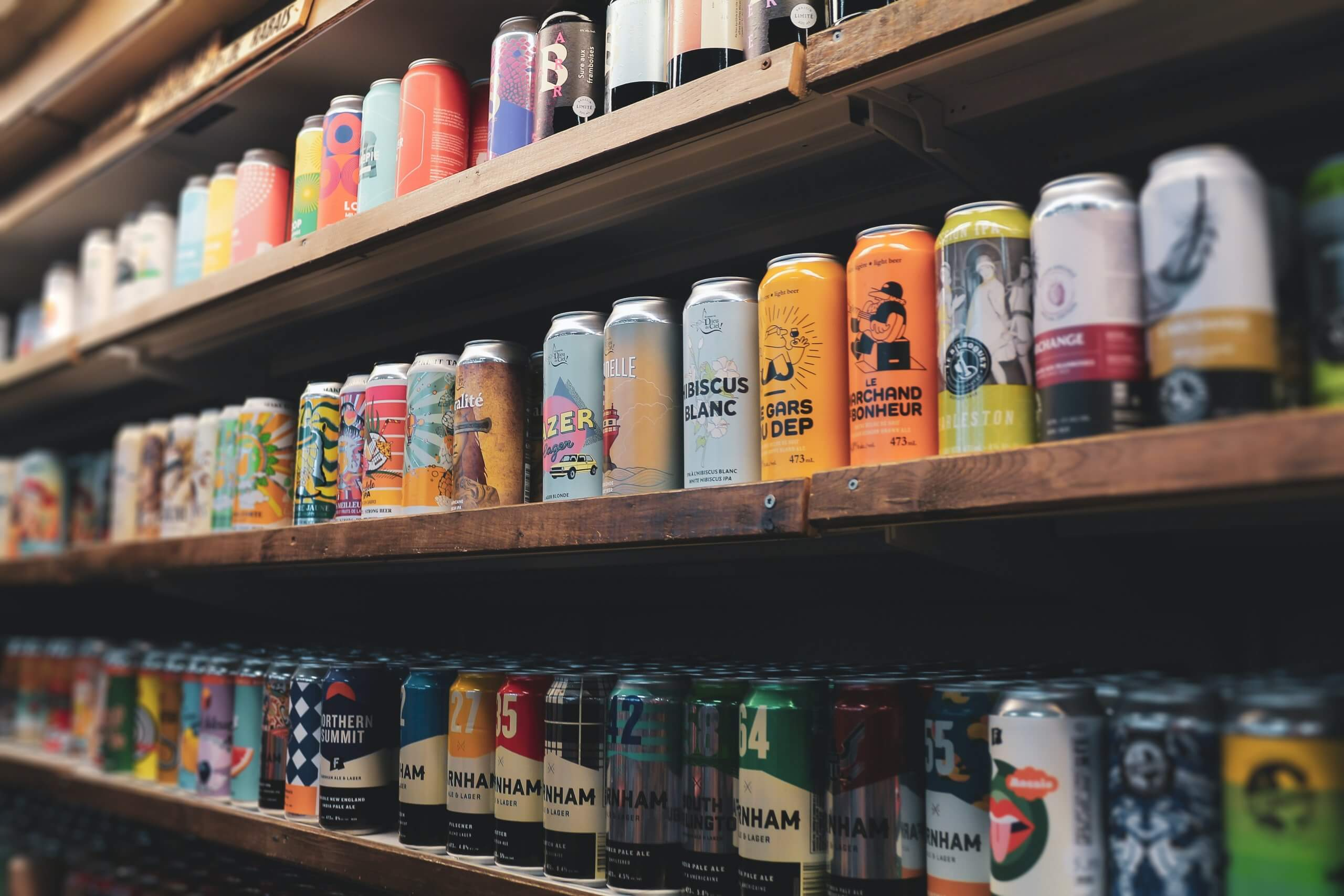 Variety of Canned Drinks