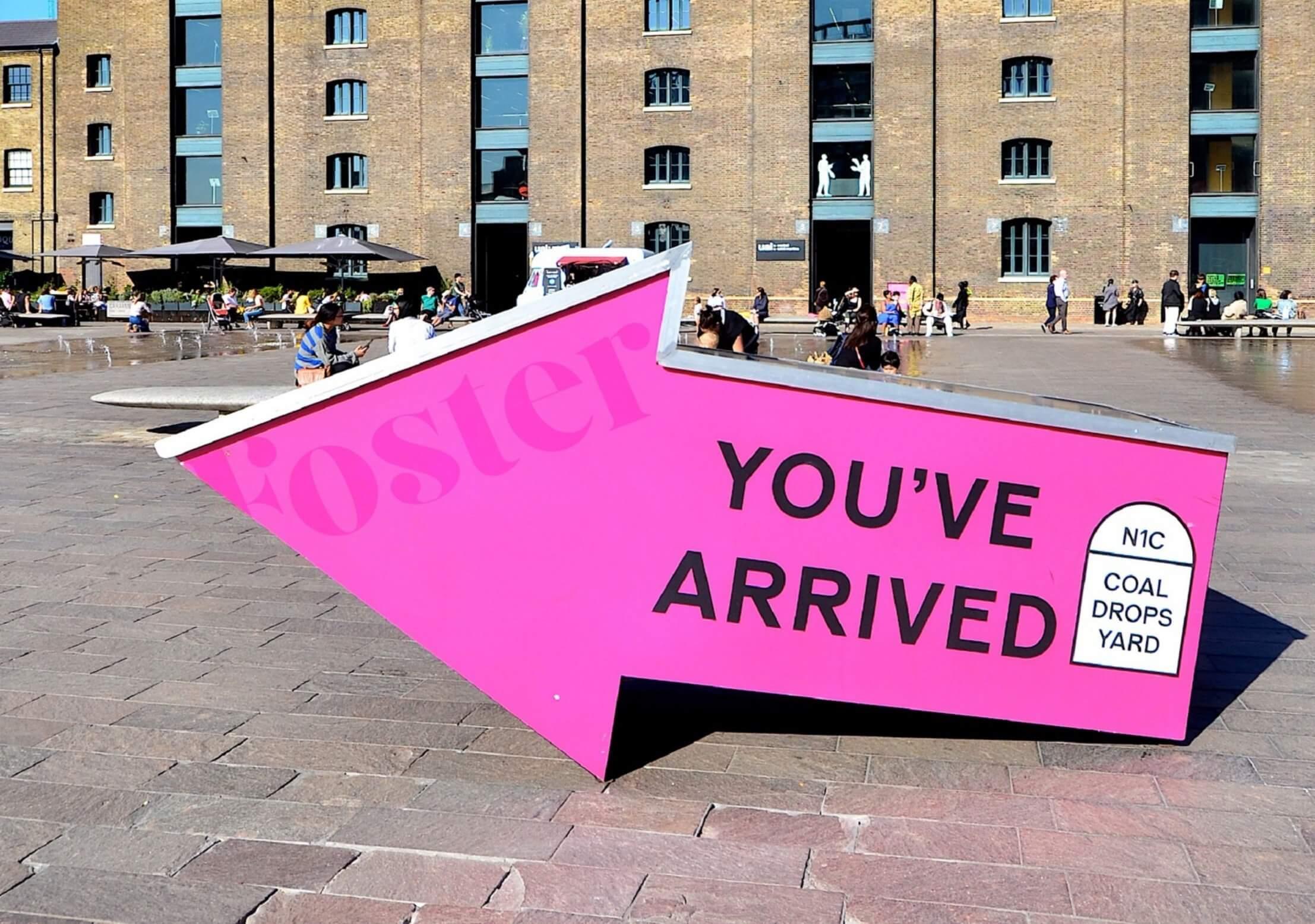 Destination Sign in Pink